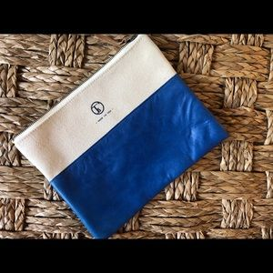 Fleabags Leather Canvas Clutch - brand new